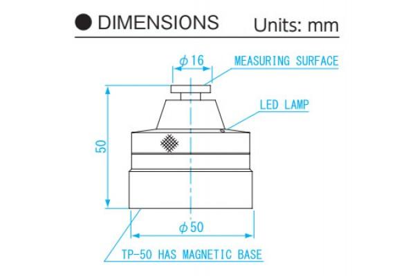 Dụng cụ sét zezo trục Z điện tử Chiều cao 50mm NiigataSeiki, TP-50M