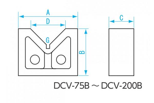 Khối V dài 200mm (2 cái/cặp) NiigataSeiki, DCV-200A