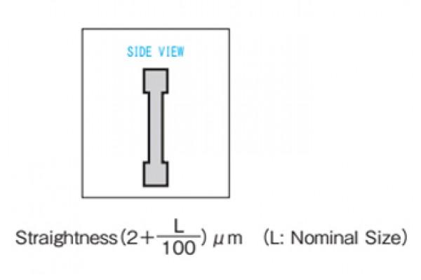 Thước thẳng chuẩn dài 2500mm thép carbon kiểu chữ I NiigataSeiki, IBM-A2500