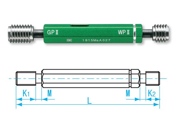 Dưỡng đo ren trong M7x1.0-GPWP II, GPWP2-0710