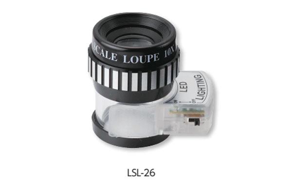 Kính lúp 10X đo lường có đèn Led NiigataSeiki, LSL-26