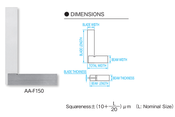 Eke vuông chuẩn dài 125x80mm kiểu đế dày NiigataSeiki, AA-F125